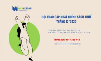Hội thảo cập nhật chính sách thuế tháng 12/2020