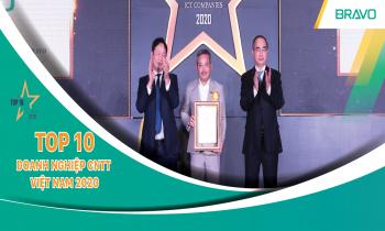 BRAVO đón nhận Danh hiệu Top 10 DN CNTT hàng đầu Việt Nam năm 2020