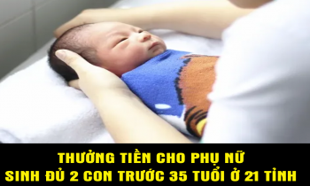 Thưởng tiền cho phụ nữ sinh đủ 2 con trước 35 tuổi