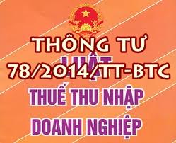 thong tu 78 Thue TNDN
