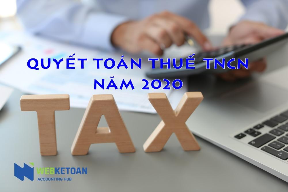 quyet toan thue tncn nam 2020