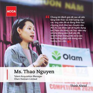 chị Nguyễn Hà Thảo, Trưởng bộ phận Tìm Kiếm và Phát Triển Tài Năng
